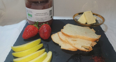 La Ferme du Montet - Compote de Pommes Fraises sans sucre ajouté BIO - 420 g