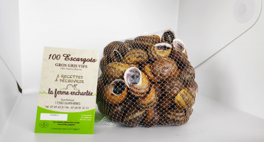 La Ferme Enchantée - 100 Escargots Gros-Gris Vif Jeuné Prêt à Cuisiner
