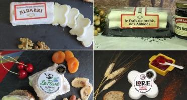 La Fromagerie des Aldudes - Lot de 4 Fromages dont 2 Médailles en Lactiques de Brebis (3) et Vache (1)