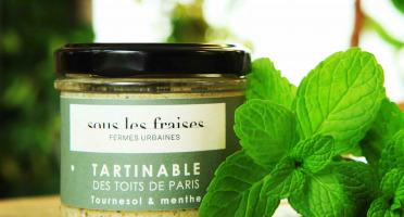 Sous les fraises - Epicerie des Toits de Paris - Tartinable Tournesol & Menthe