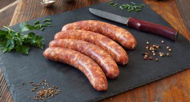 La Ferme du Chaudron - Saucisses Basques de Porc BIO - 500 g
