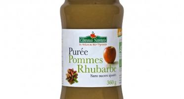 Les Côteaux Nantais - Purée Pommes Rhubarbe 360g Demeter