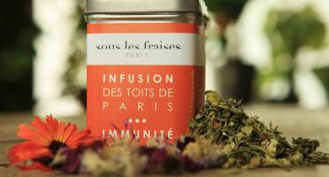 Sous les fraises - Epicerie des Toits de Paris - Infusion Immunité