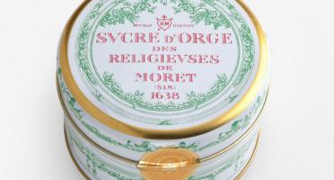 Des Lis Chocolat - Sucre D'orge De Moret, Boîte Fer Ronde 250g