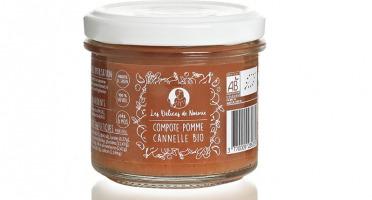 Les délices de Noémie - Lot de 3 Compotes Pomme - Cannelle Bio pour Bébé dès 6 Mois