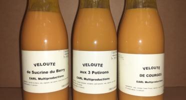 Multiproductions - Cédric Joliveau - Lot de 3 Veloutés de courges de 50 cl : sucrine, courge, potiron