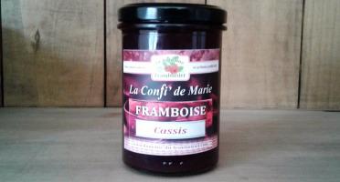 Le Domaine du Framboisier - Confiture allégée en sucre Framboise et Cassis 250g