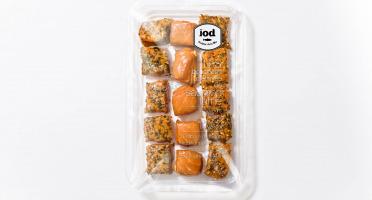 ÏOD - Bouchées apéritives de saumon fumé (mi-cuit) aux 3 saveurs