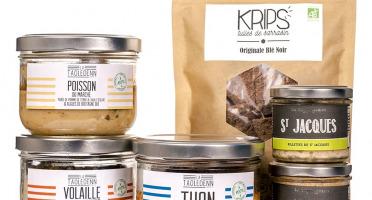 La Chikolodenn - L'en-cas breton : des tuiles 100% sarrasin Bio 2 rillettes de poisson Bio & 3 plats individuels 280g