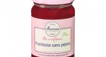 Muroise et Compagnie - Confiture de Framboise Bio (Sans Pépins) - 350 gr