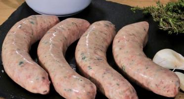 Ferme Les Barres - Saucisse de Cochon Olive & Thym x4