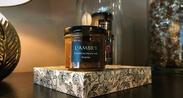 L'AMBR'1 Caramels et Gourmandises - Crème De Caramel Au Praliné - Pot De 130g