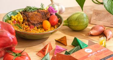 Epices Max Daumin - Coffret Mes Plats Mijotés - 20 berlingots (4 Curry recette maison, 4 Curry Intense, 4 Ras el Hanout,