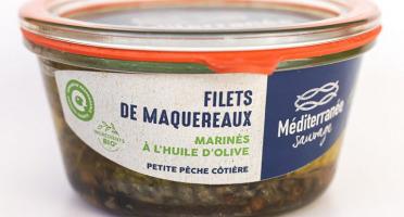 Méditerranée Sauvage - Filets de Maquereaux marinés à l'Huile d'Olive Bio Extra