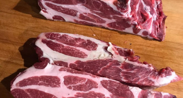 Terres En Vie - [Précommande] Viande de Cochon Mangalica Bio mature (2 ans d'élevage) - Colis 3 kg