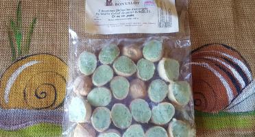 L'escargotière BONVALOT - 2 Douzaines d'Escargots Surgelés en CROquille au Beurre d'Ail et de Persil et au Vin Jaune