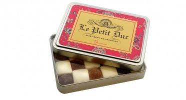 Le Petit Duc - Damier de calissons et pates de fruits - Boite de 120g