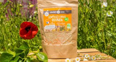 Sa Majesté la Graine - Mélange Quinoa/lentilles Corail Bio De France - 500 g