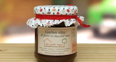 Les Perles Rouges - Confiture Délice Poire Et Chocolat Noir