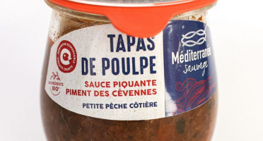 Méditerranée Sauvage - Tapas de Poulpe en Sauce Piquante - Piment des Cévennes