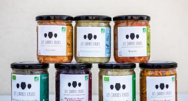 Les Jarres Crues - Lot de 7 Pots de 400 g de Légumes BIO Lacto-Fermentés