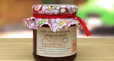 Les Perles Rouges - Gelée Extra De Groseille Rouge -  Orange Et Vanille Bourbon