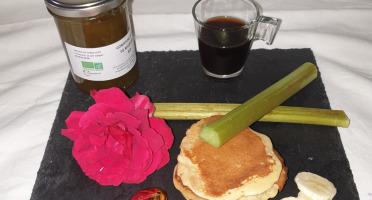 La Ferme du Montet - Confiture Extra de rhubarbe banane safran BIO - 220 g