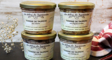 Les Délices du Scamandre - Lot de 4 Terrines de Taureau : Raisin, Noix, Abricot Noix, Châtaignes