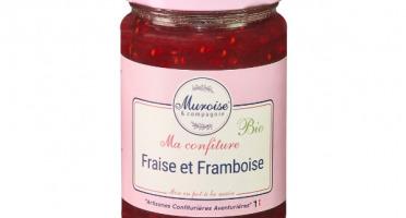 Muroise et Compagnie - Confiture de Fraise et Framboise Bio - 350 gr
