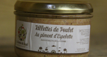 La Ferme du Logis - Rillettes de poulet au piment d'Espelette - Aux poulets de la ferme