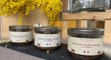 Venandi Sauvage par Nature - Panier 3 Terrines de Sanglier Sauvage 100% Français