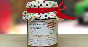 Les Perles Rouges - Chutney Pomme Et Estragon (spécial Grillades & Poissons)