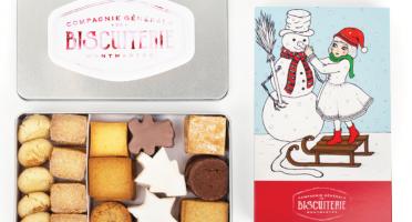 """Compagnie Générale de Biscuiterie - Boite Noel """"Bonhomme de neige"""""""