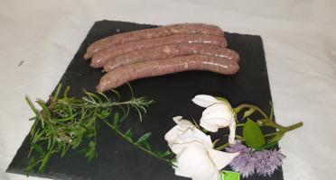 La Ferme du Montet - Chipolatas Ail et Fines Herbes de Porc Noir Gascon BIO - 210 g