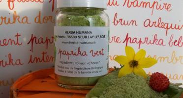 HERBA HUMANA - Paprika Vert Cultivé en France 30g