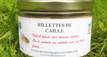 Cailles de Chanteloup - Rillettes De Cailles 190gr