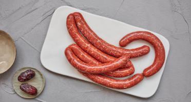 BEAUGRAIN, les viandes bien élevées - Merguez d'Agneau et de Bœuf Bio par 4 Pièces