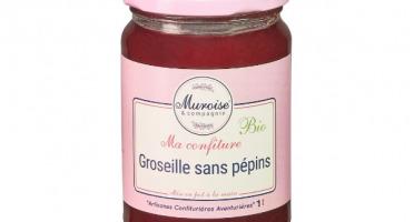 Muroise et Compagnie - Confiture de Groseille Bio (Confiture Sans Pépins) - 350 gr