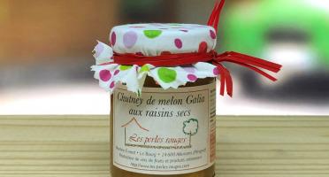 Les Perles Rouges - Chutney De Melon Galia Aux Raisins Secs