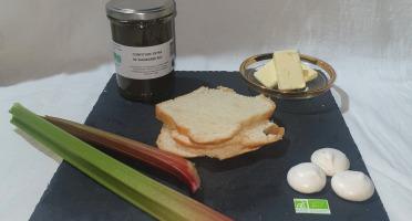 La Ferme du Montet - Confiture Extra de rhubarbe BIO - 220 g