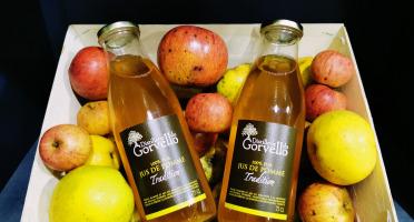 """Distillerie du Gorvello - Jus de Pomme Bio """"Tradition"""" x6"""