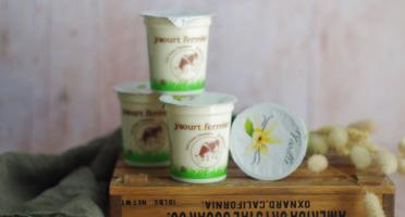Ferme Chambon - Yaourts au Lait Cru de Vache et à la Vanille x4