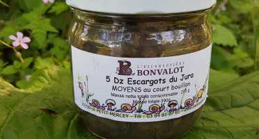 L'escargotière BONVALOT - 5 Douzaines d'Escargots du Jura Moyens au Court-Bouillon