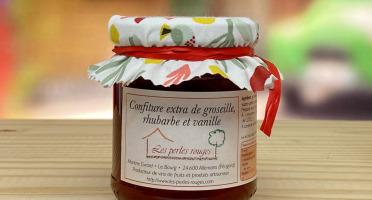 Les Perles Rouges - Confiture Extra De Groseille Rhubarbe À La Vanille Bourbon