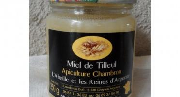 Apiculture Chambron L'Abeille et les reines d'Argonne - Miel De Tilleul De La Forêt D'argonne 250g