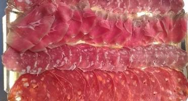 Les Délices du Scamandre - Plateau de Charcuterie de Taureau : Saucisson et Chorizo doux - 100g