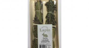 """Les Herbes du Roussillon - 4 Mini-bouquets """"spécial Lapin"""" Thym, Laurier, Sarriette"""