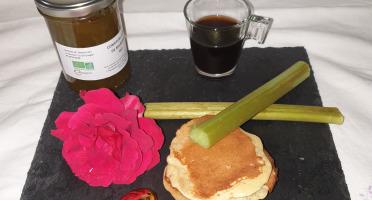 La Ferme du Montet - Confiture Extra de rhubarbe safran BIO - 220 g