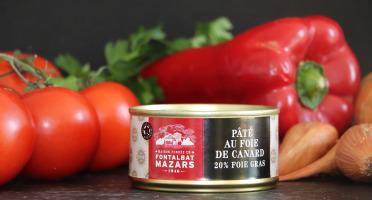 Fontalbat Mazars - Paté au foie de canard 20%