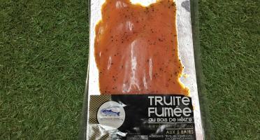Pisciculture des eaux de l'Inval - Truite Fumée Tranchée 120 Gr 5 Baies
